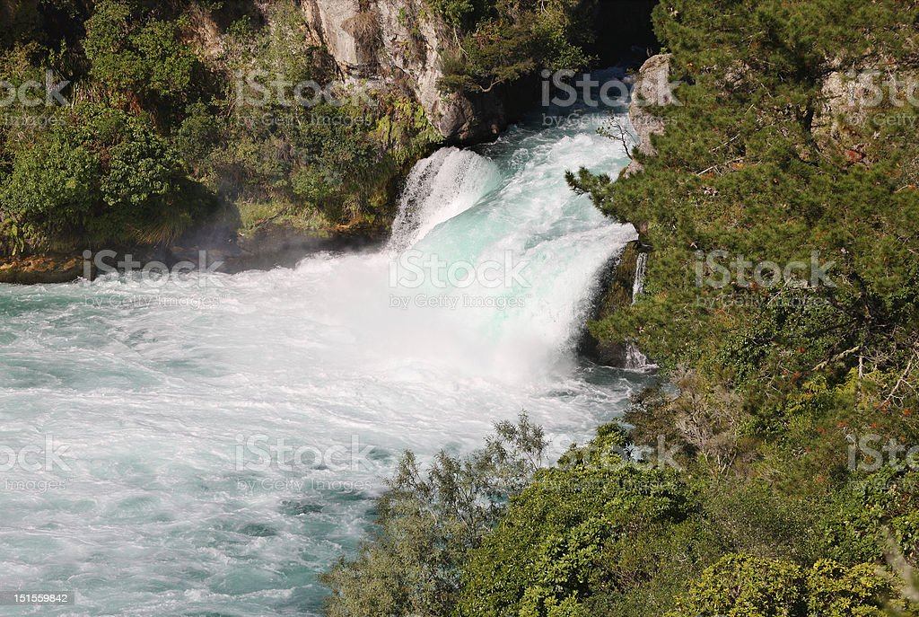 Huka Falls, Waikato, New Zealand royalty-free stock photo
