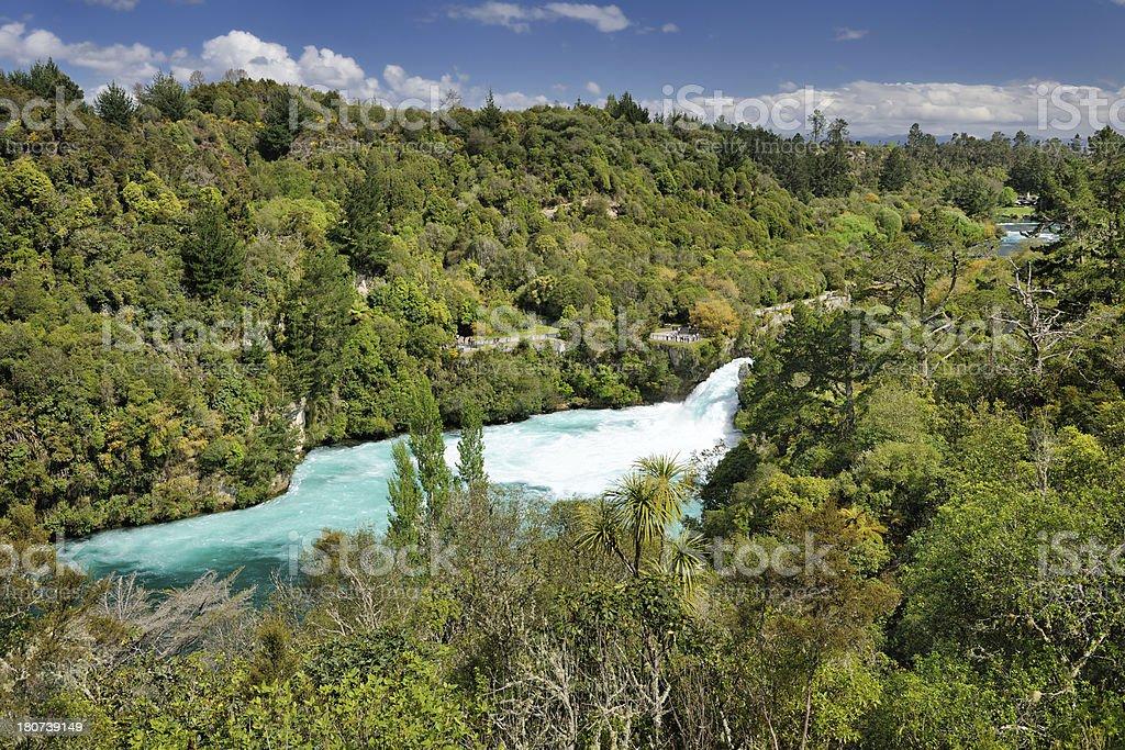 Huka Falls, Waikato River, New Zealand stock photo