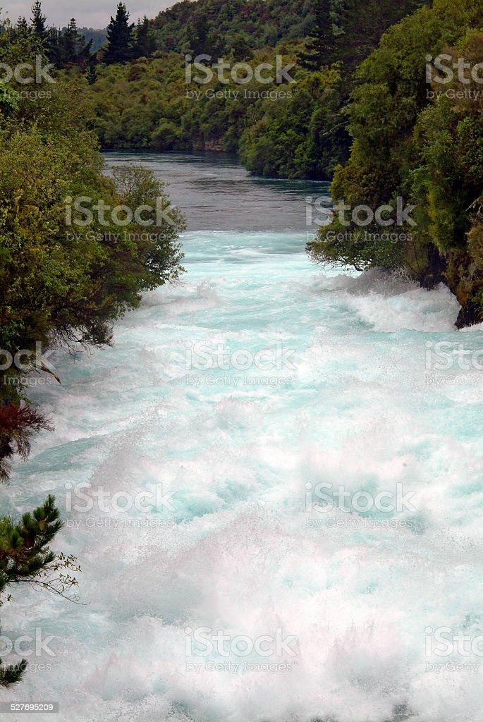 Huka Falls Waikato River New Zealand stock photo