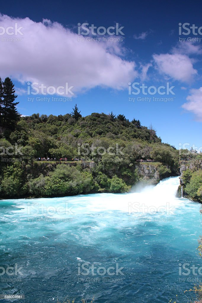 Huka Falls Waterfall stock photo