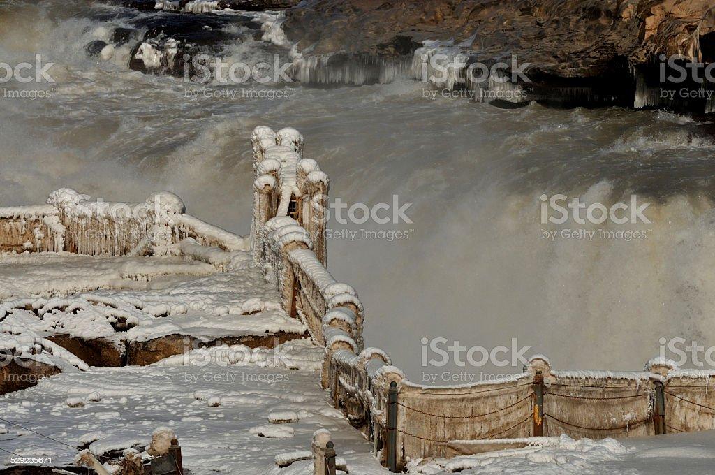 Hukou Waterfall stock photo