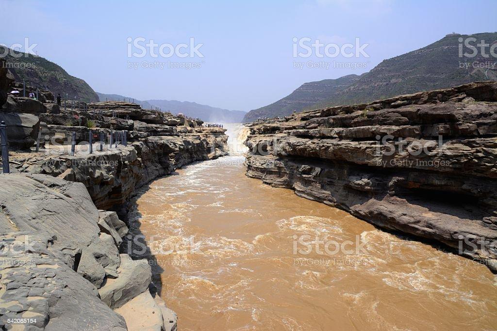 Hukou waterfall, Shaanxi, China stock photo
