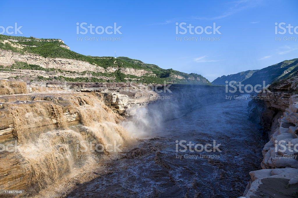 hukou waterfalls royalty-free stock photo