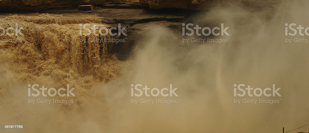 Hukou Waterfalls (Kettle Spout Falls) royalty-free stock photo