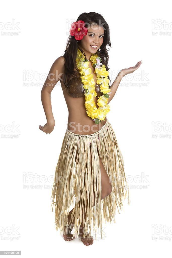 Hula Dancer stock photo