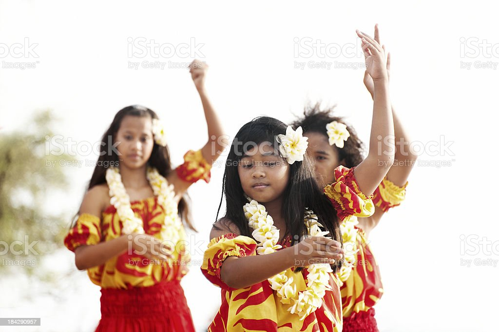 Hula Dancers royalty-free stock photo