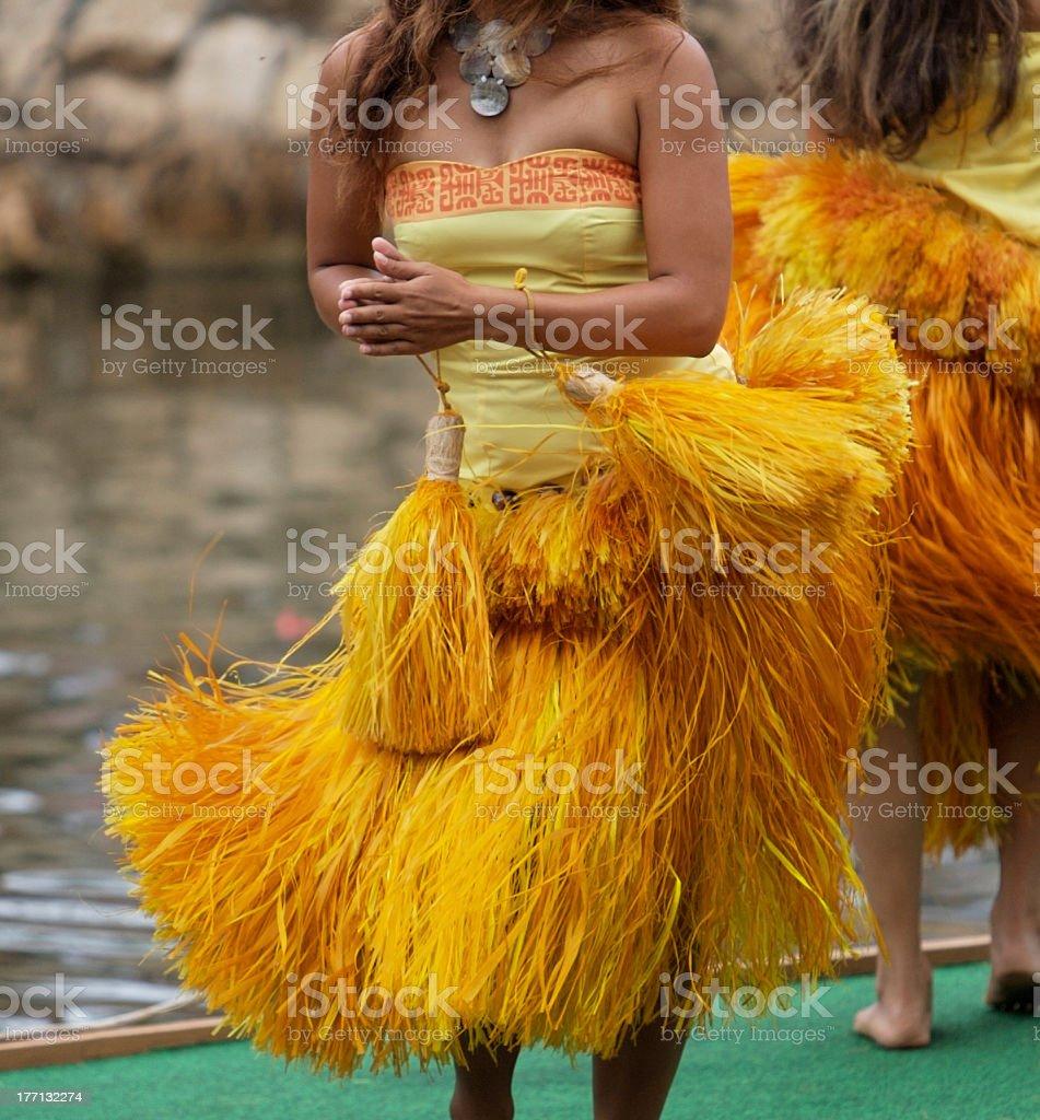 Hula Dancing royalty-free stock photo