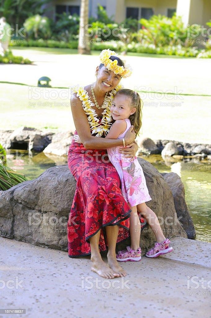 Hula Girls royalty-free stock photo