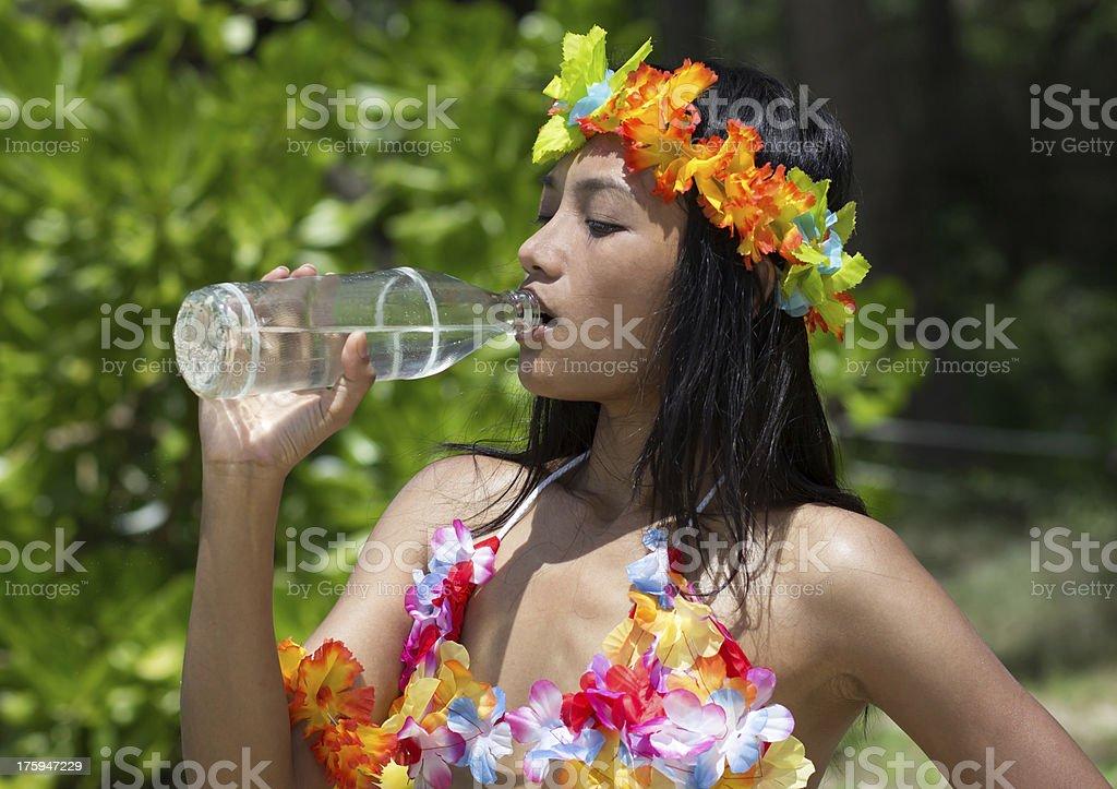 Hula Hawaii dancer royalty-free stock photo