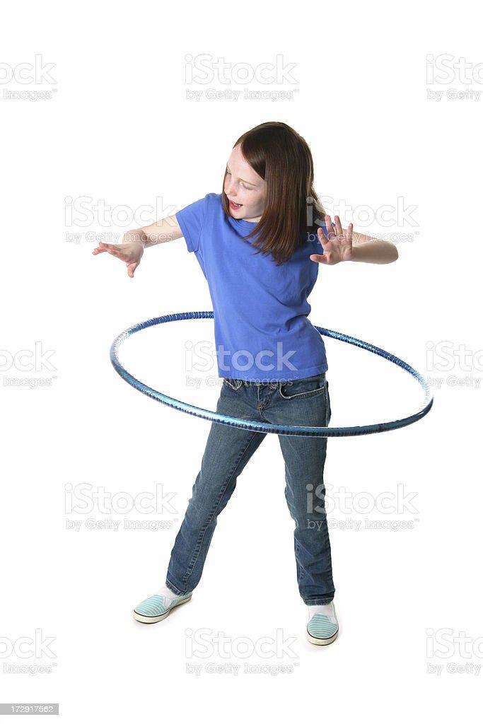 Hula Hoop Fun stock photo