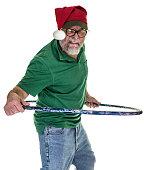 Hula Hoop Redneck Santa Hat Man