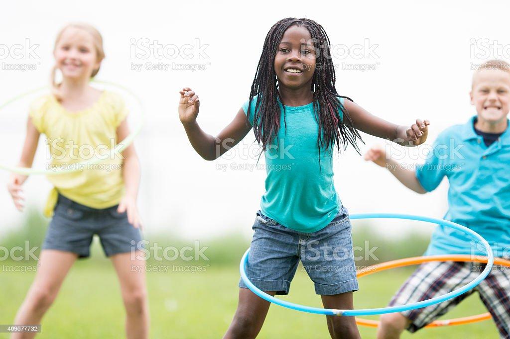 Hula Hooping at the Park stock photo