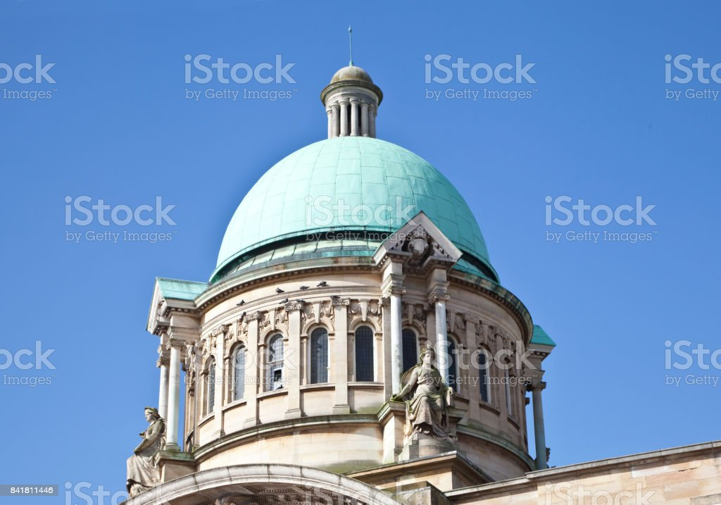 Hull City Hall Roof Dome stock photo