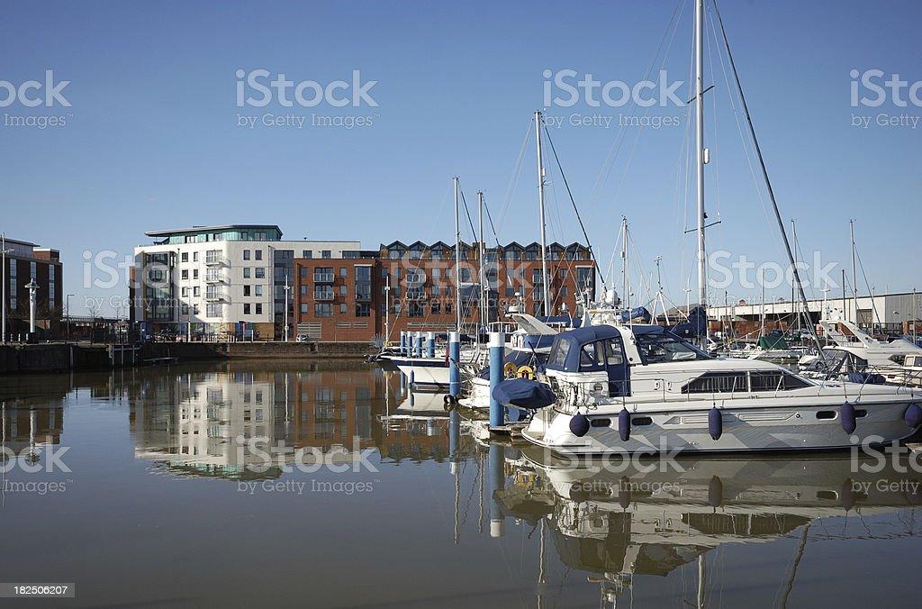 Hull Marina stock photo