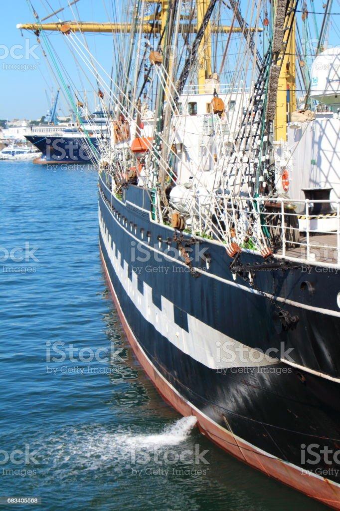 hull of a sailboat stock photo