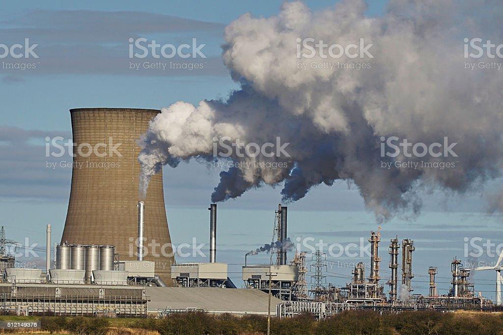 Hull Uk Saltend Power Station stock photo