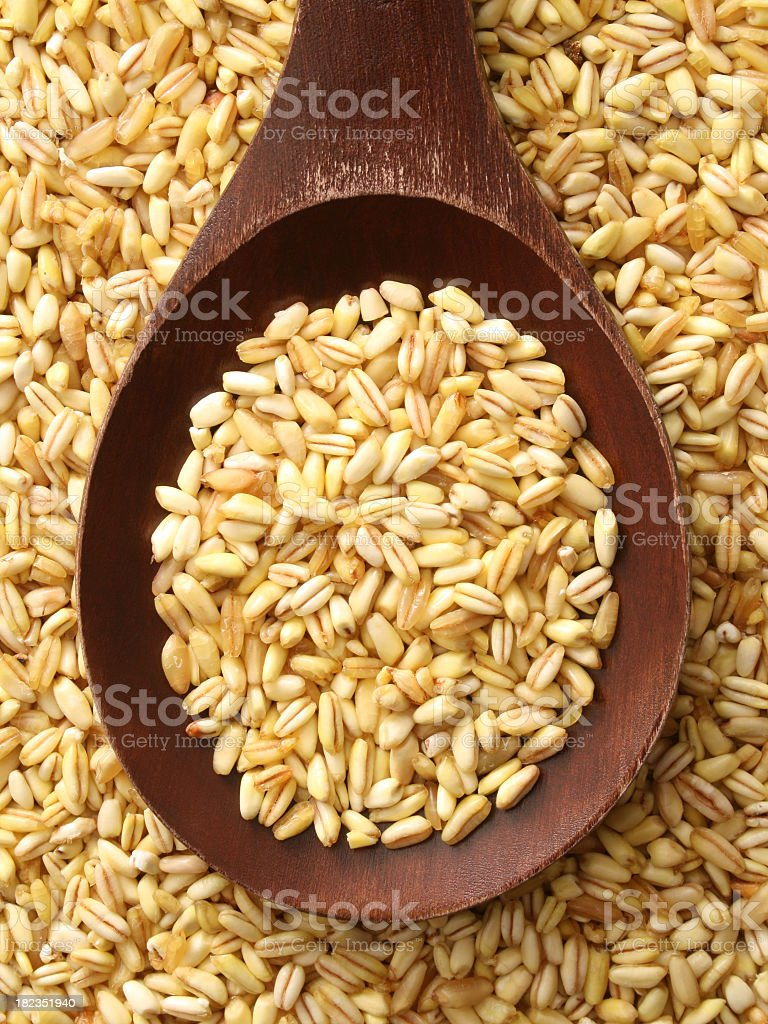 Hulled wheat royalty-free stock photo