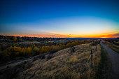 Hulls Gulch Fall Sunset