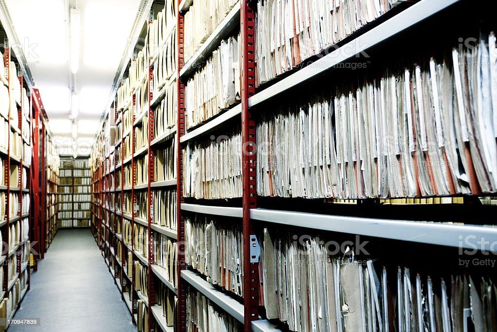 Hulton Archive filing. royalty-free stock photo