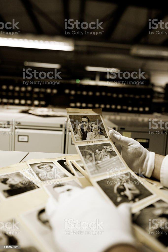 Hulton archive photographs. stock photo