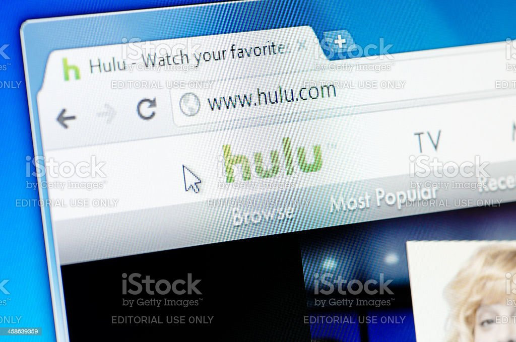 Hulu webpage on the browser stock photo
