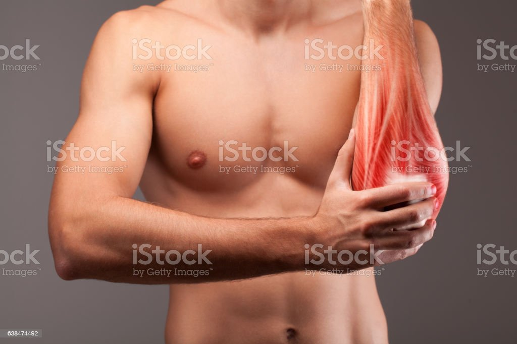 Human arm pain stock photo