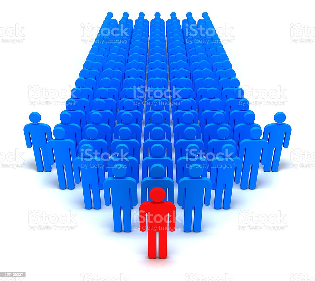 Human Arrow royalty-free stock photo
