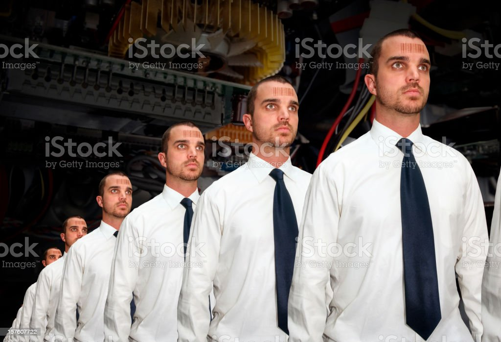 Human Assembly Line stock photo