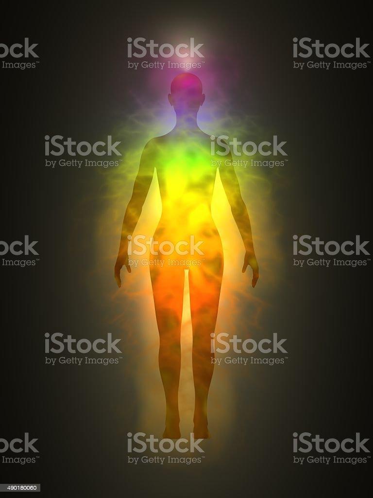 Human aura stock photo