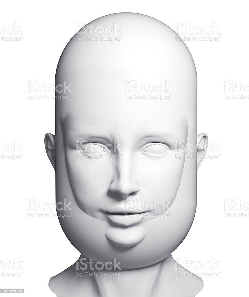 human beard head stock photo