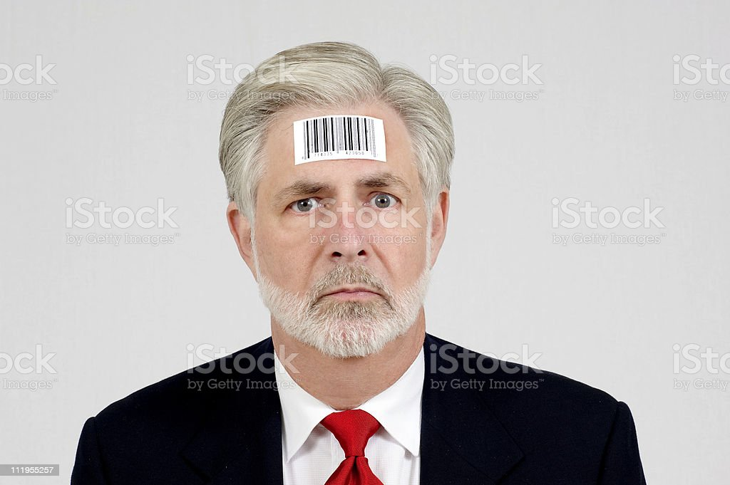 Human Being With Bar Code stock photo