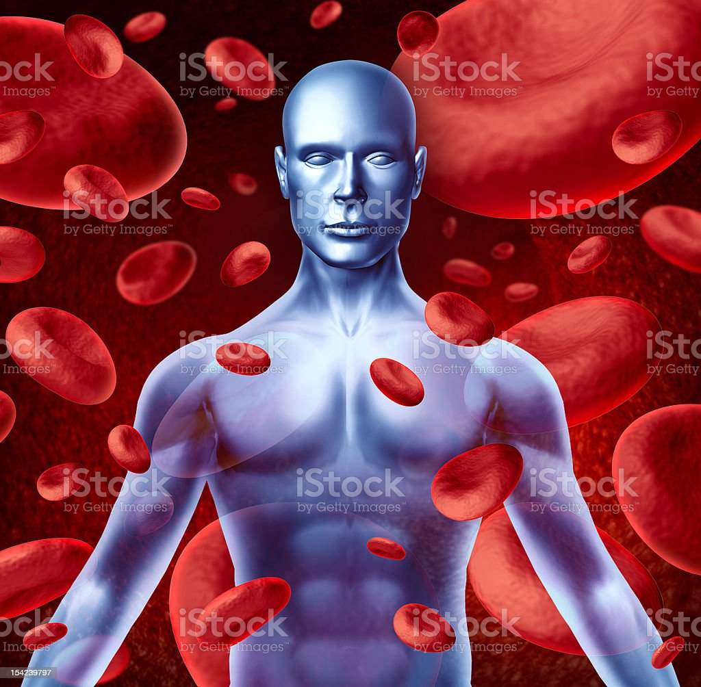 Human blood royalty-free stock photo