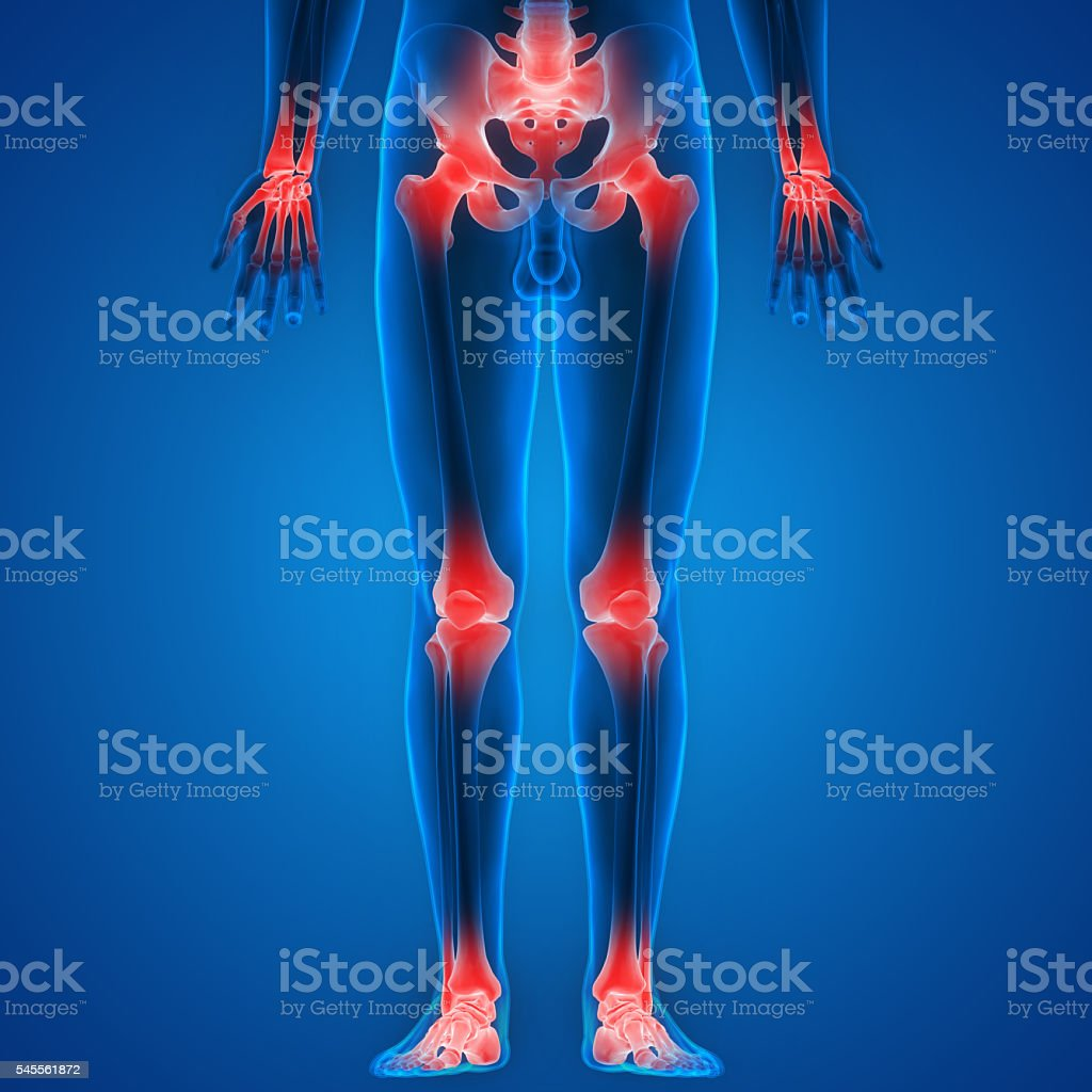 Human Body Bone Joint Pains stock photo