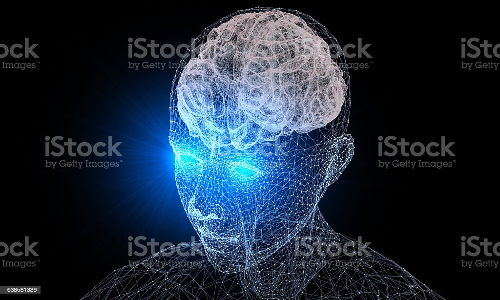 Human Brain and Vision stock photo