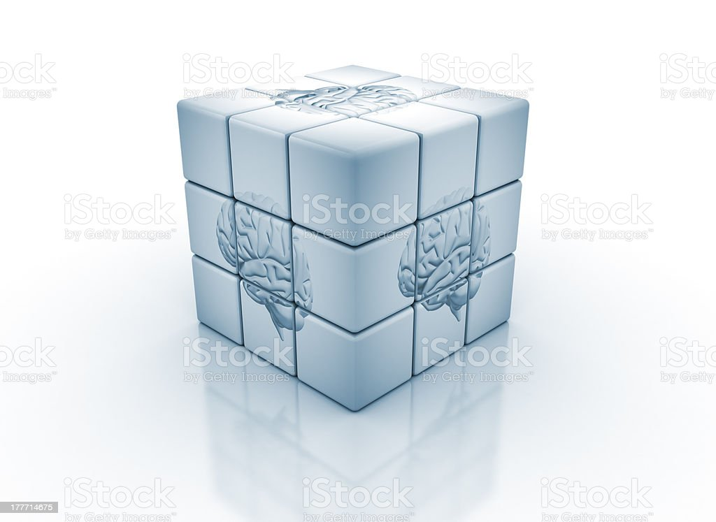 Human brain puzzle concept royalty-free stock photo