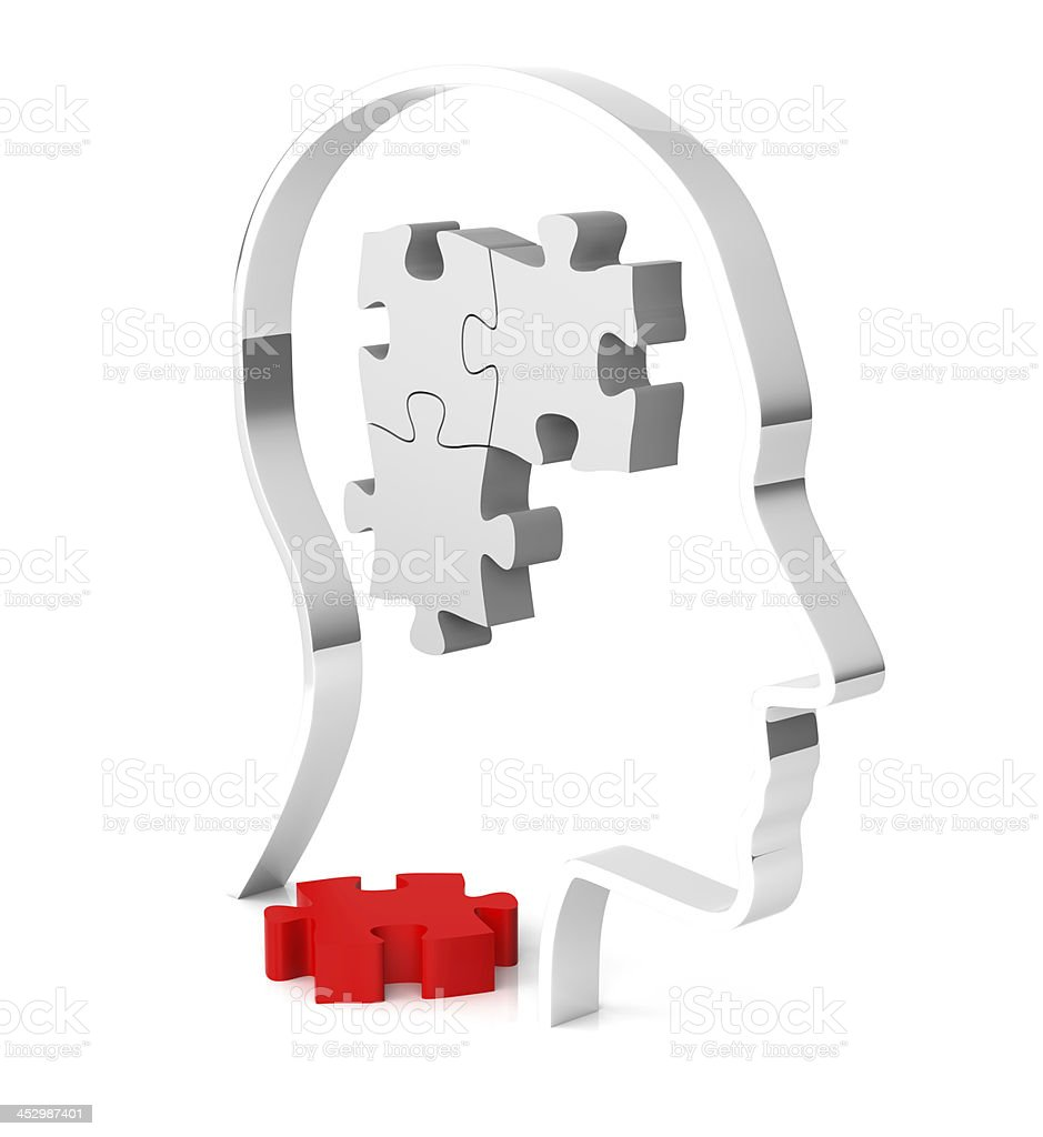 Human Brain Puzzle royalty-free stock photo