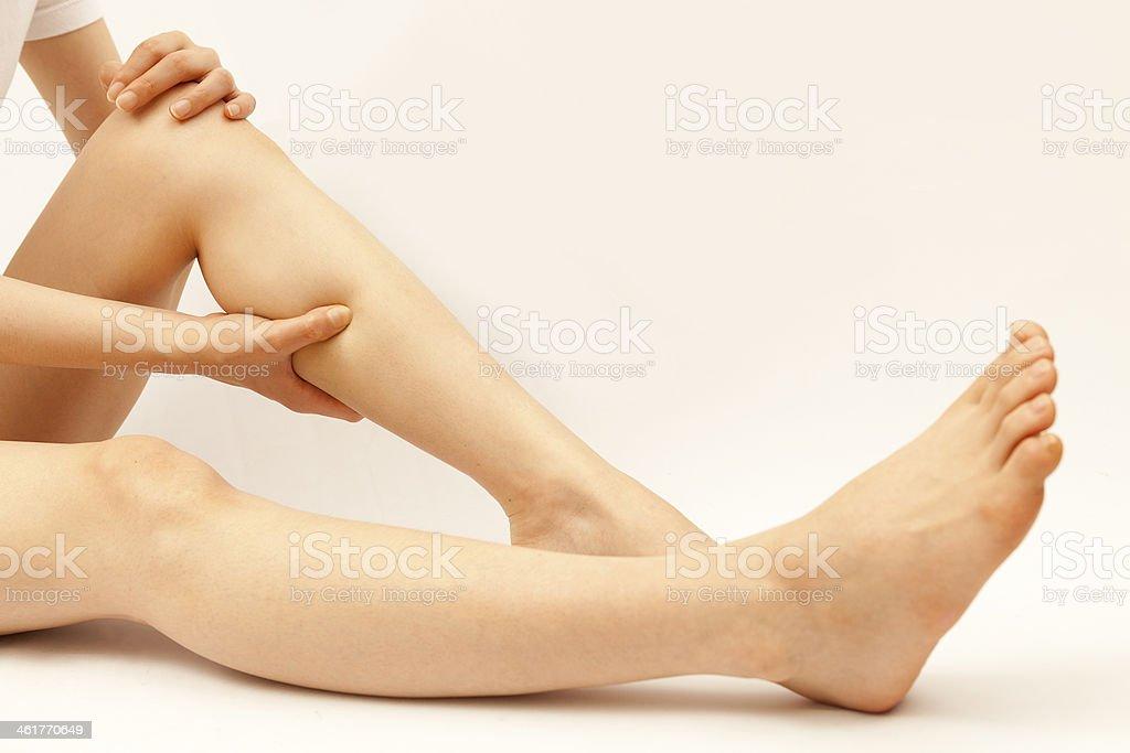 human calf pain royalty-free stock photo