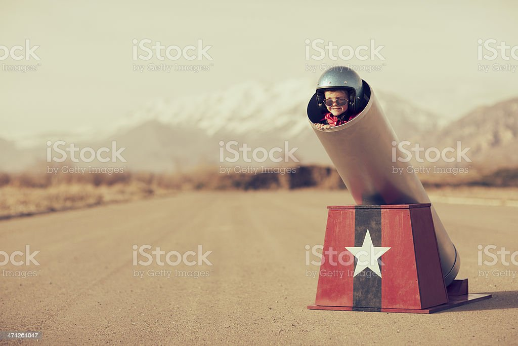 Human Cannonball stock photo