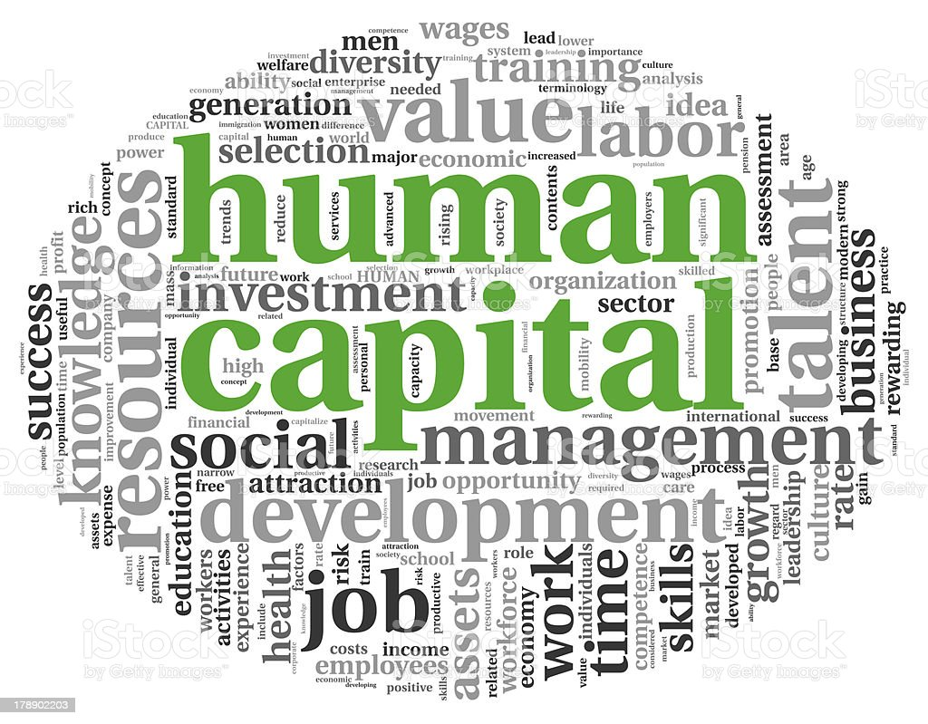 Human capital concept in tag cloud royalty-free stock photo