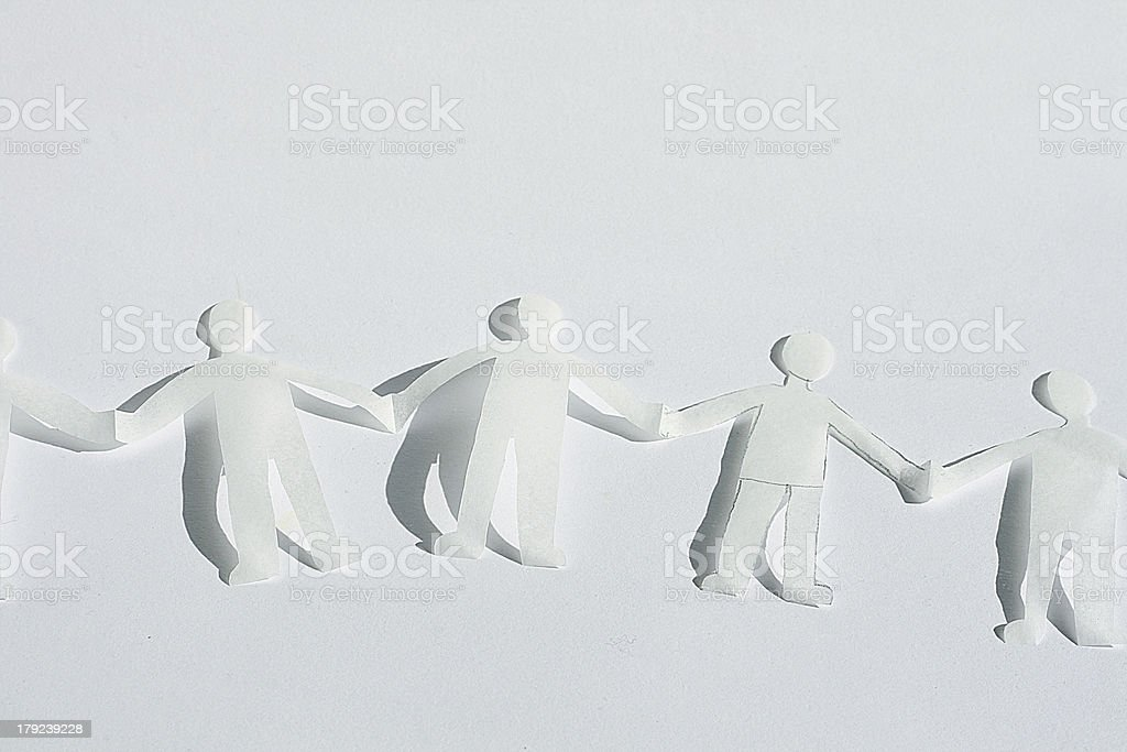 human chain royalty-free stock photo