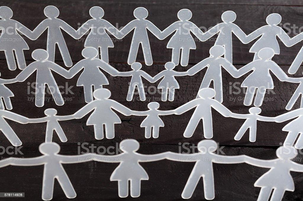 Human chain stock photo