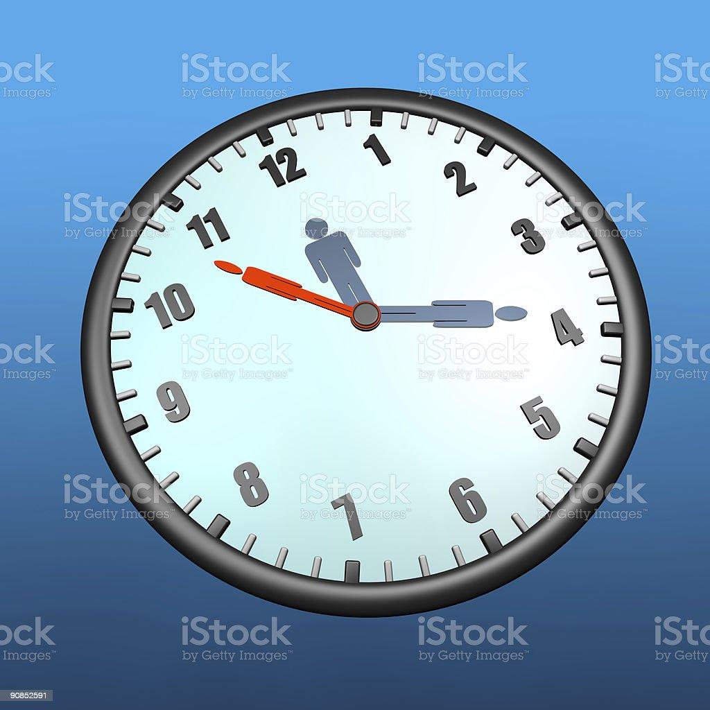 Human clock royalty-free stock photo