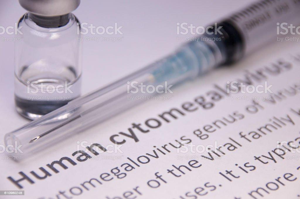 Human cytomegalovirus stock photo