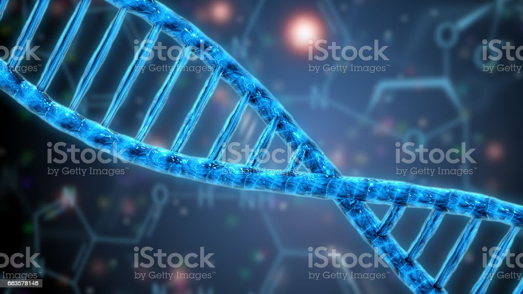 human dna digital illustration stock photo