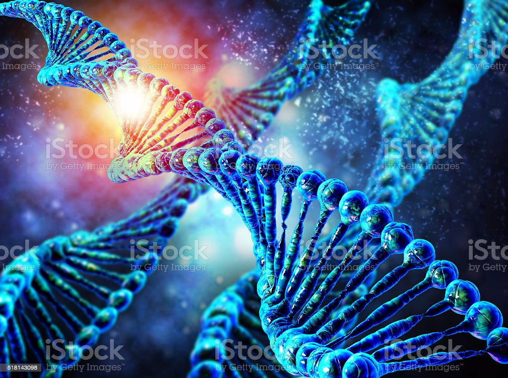 Human dna string stock photo