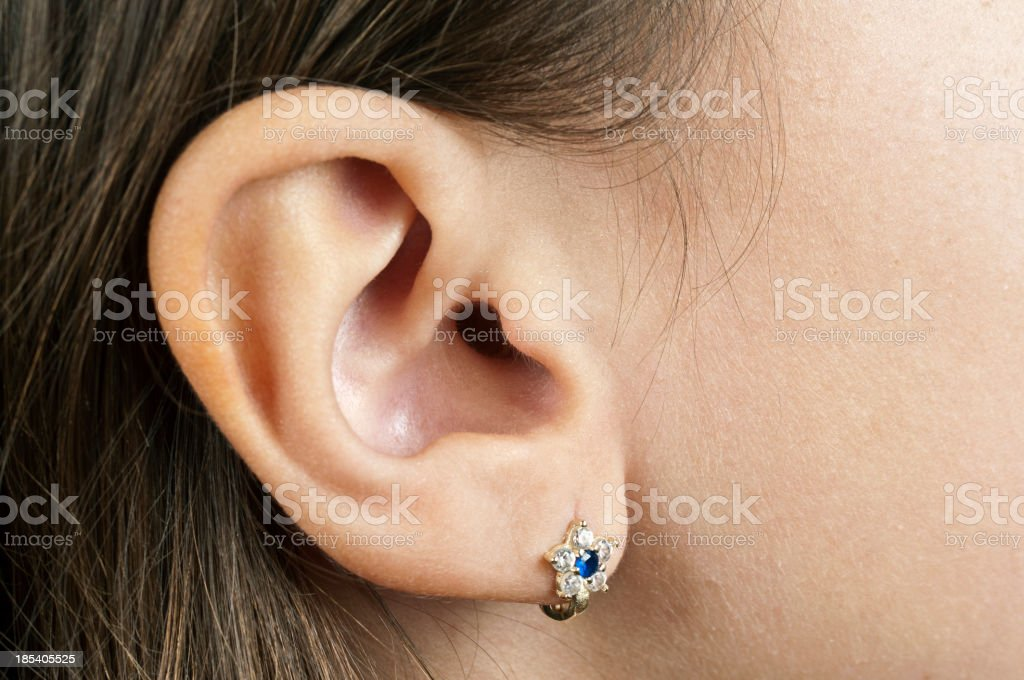 Human Ear stock photo