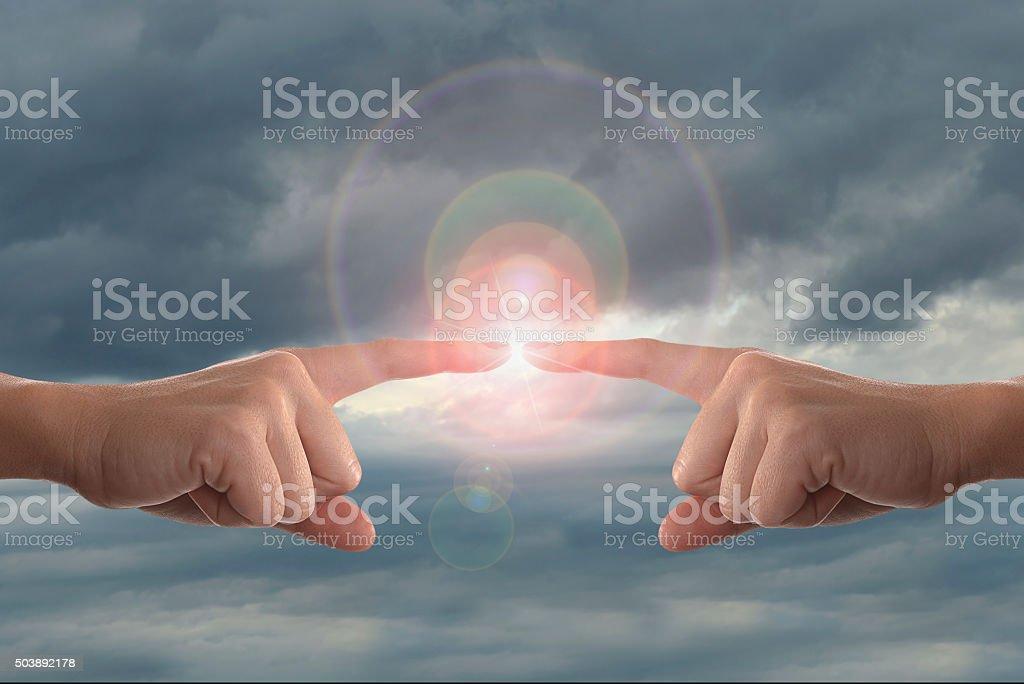 Human energy stock photo