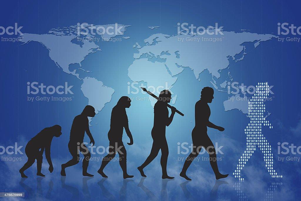 Human evolution stock photo