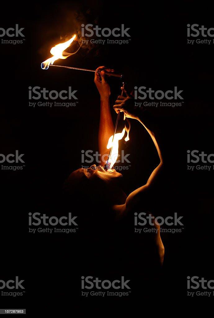 Human Extinguisher stock photo