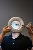 Human Eye through Magnifying Glass